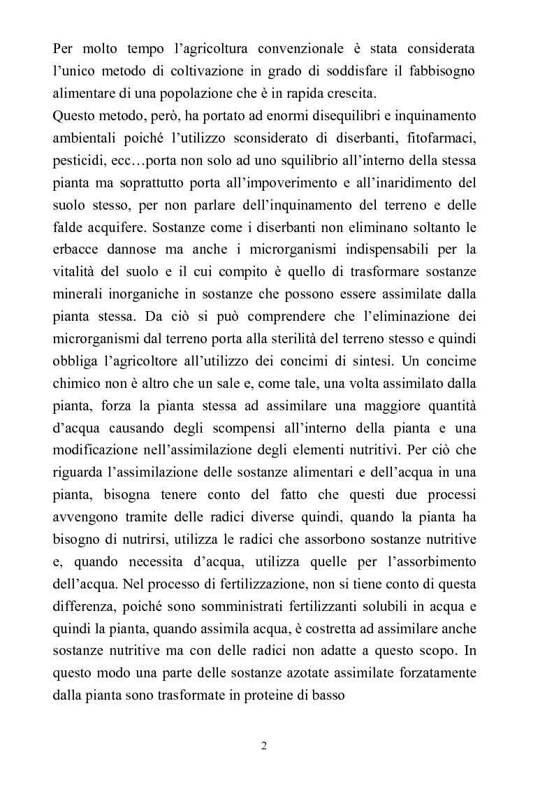 Anteprima della tesi: Comparazione tra sistemi agricoli: biodinamico, biologico, integrato, Pagina 2
