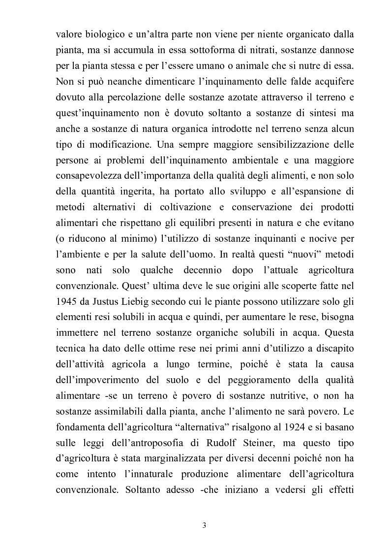 Anteprima della tesi: Comparazione tra sistemi agricoli: biodinamico, biologico, integrato, Pagina 3