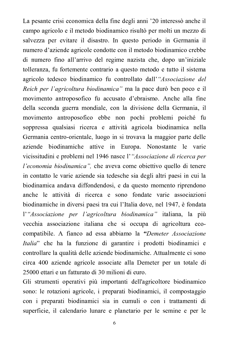 Anteprima della tesi: Comparazione tra sistemi agricoli: biodinamico, biologico, integrato, Pagina 6