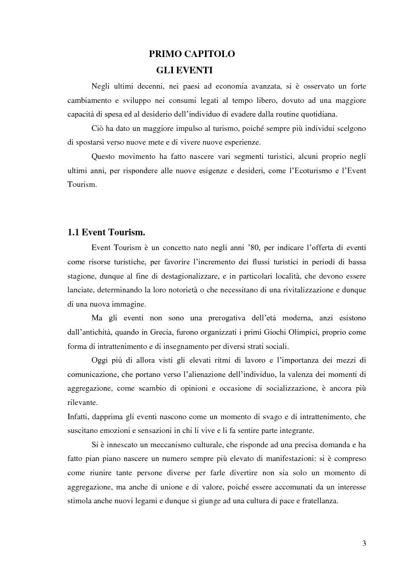 Anteprima della tesi: Il management degli eventi. Il caso della Show Net, Pagina 2