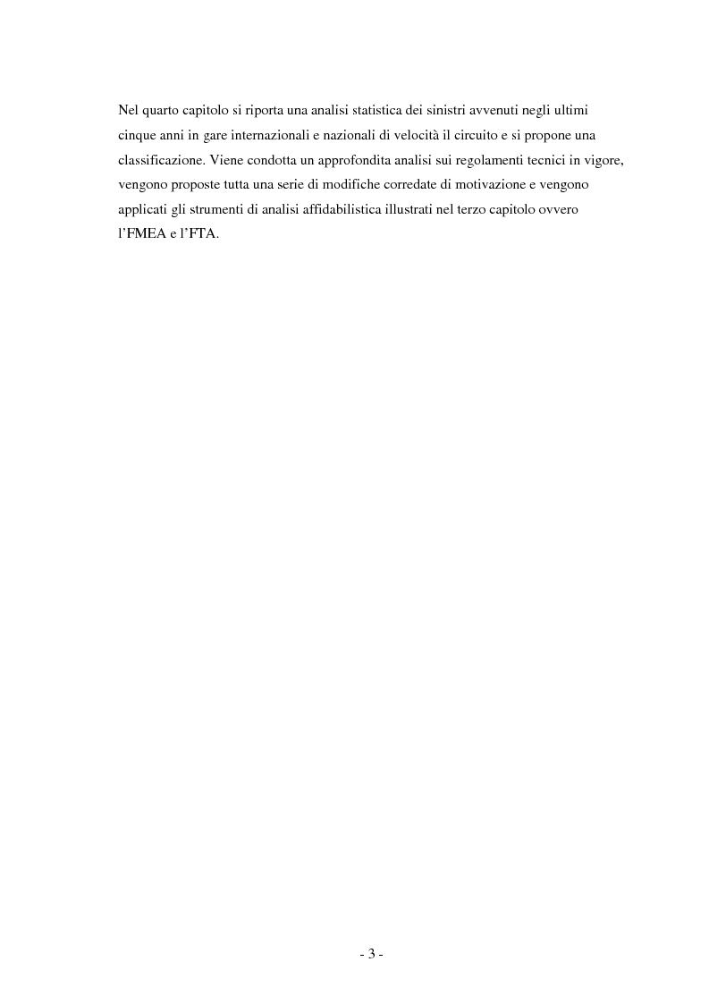 Anteprima della tesi: Miglioramento della sicurezza nelle competizioni motociclistiche: analisi comparata tra normativa vigente ed affidabilità dei sistemi, Pagina 3
