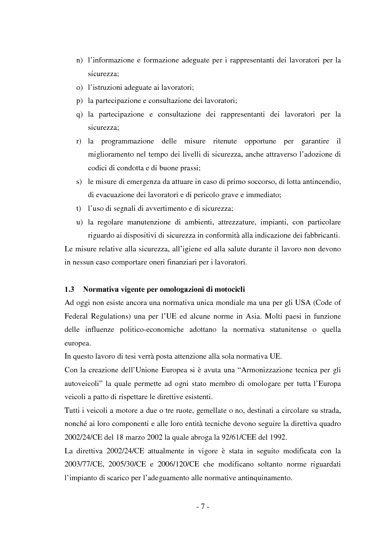 Anteprima della tesi: Miglioramento della sicurezza nelle competizioni motociclistiche: analisi comparata tra normativa vigente ed affidabilità dei sistemi, Pagina 7