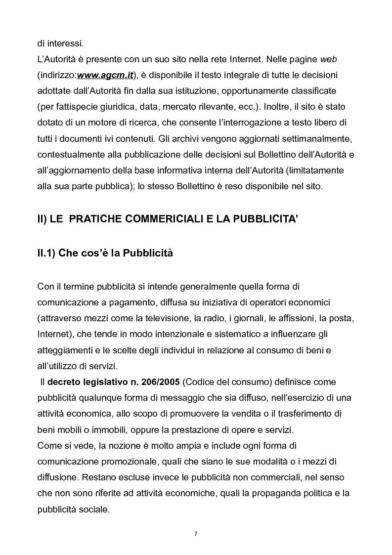 Anteprima della tesi: Il controllo dell'autorità garante per la concorrenza e il mercato sulla pubblicità comparativa e ingannevole, Pagina 6