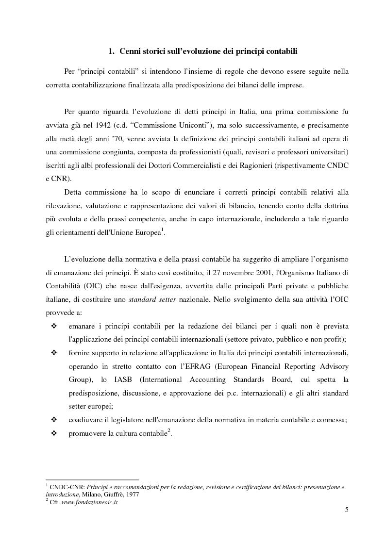 Anteprima della tesi: Le immobilizzazioni materiali secondo i principi contabili nazionali ed internazionali (IAS - IFRS), Pagina 1