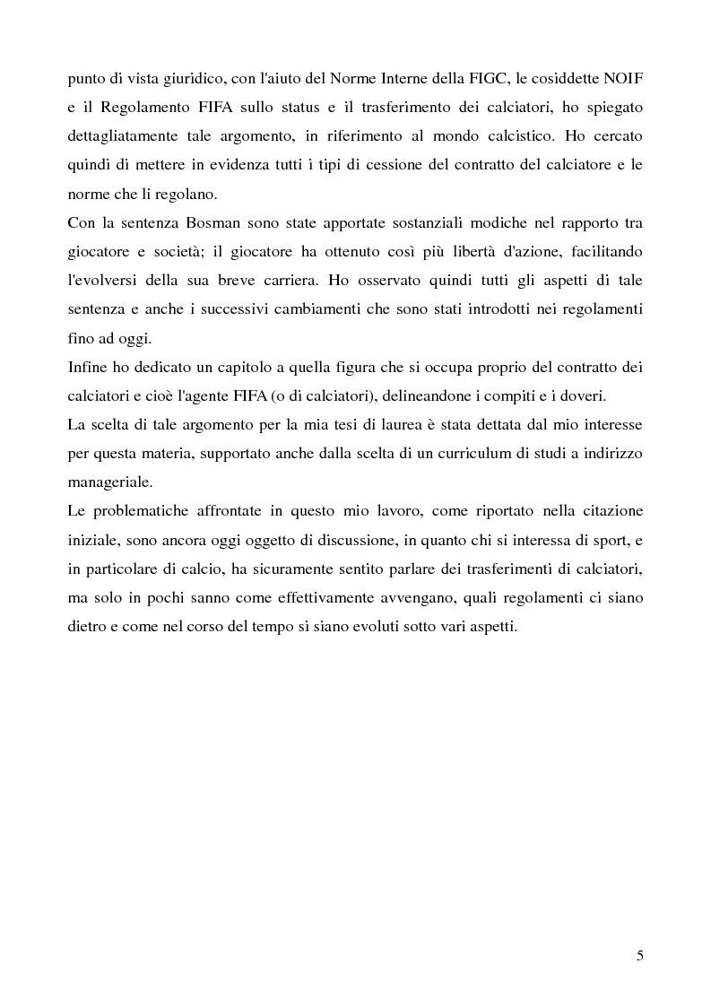 Anteprima della tesi: La cessione del contratto del calciatore, Pagina 2