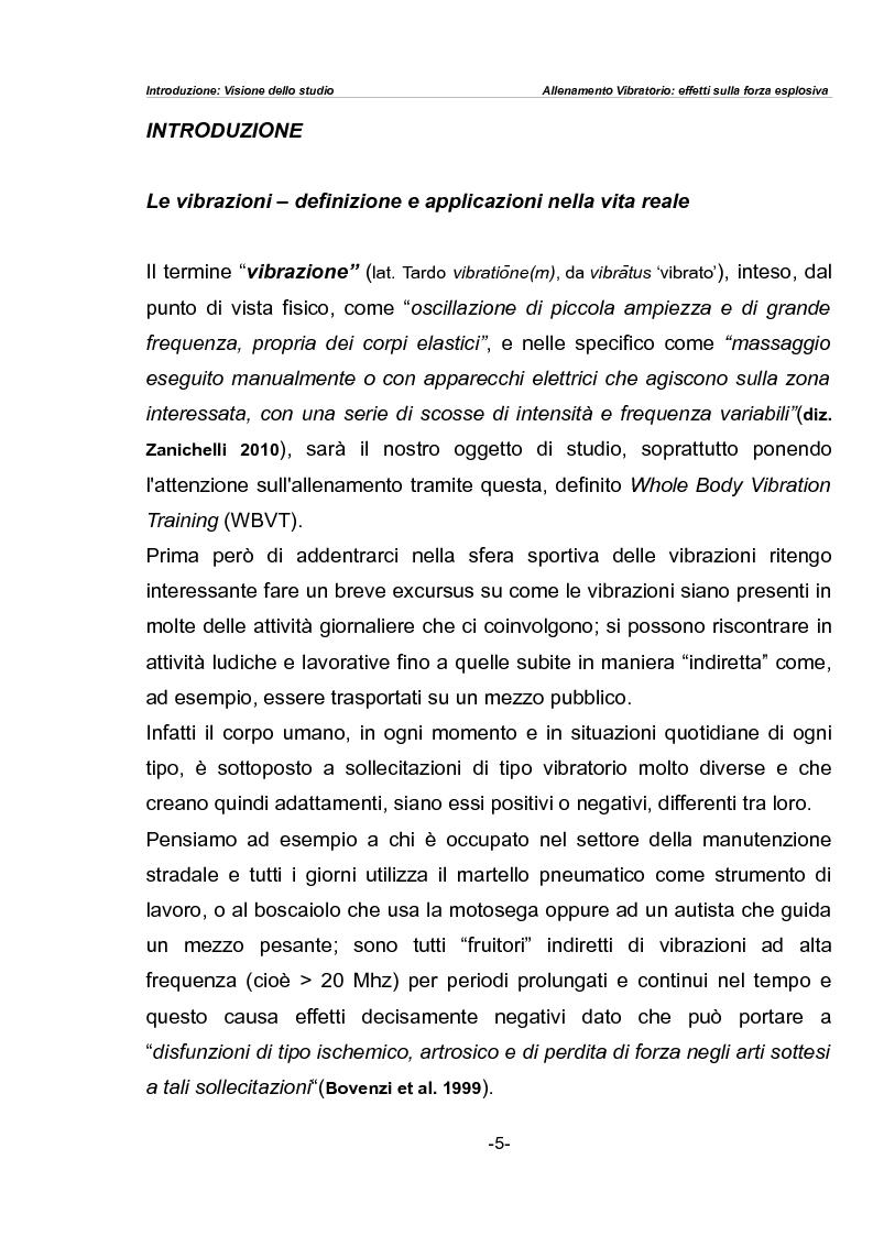Anteprima della tesi: L'allenamento vibratorio nel fitness: analisi comparativa tra effetti sulla forza esplosiva ed induzione sulla potenza aerobica, Pagina 1