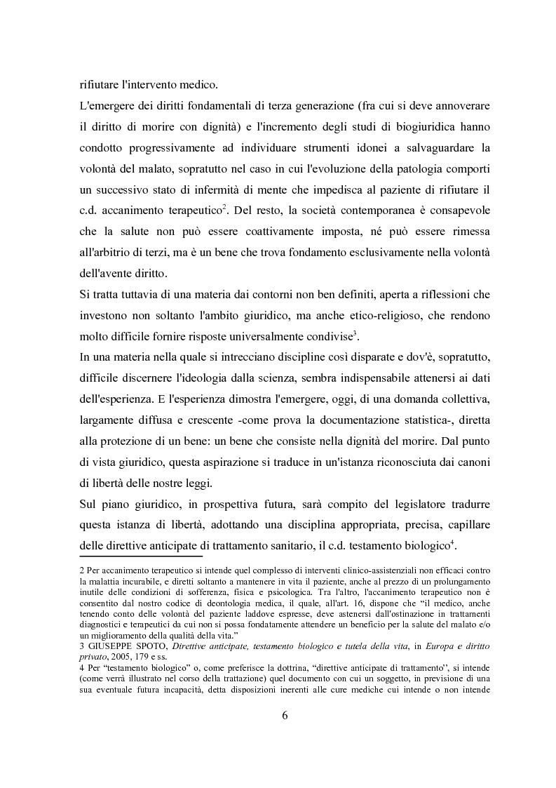 Anteprima della tesi: Il testamento biologico, Pagina 2