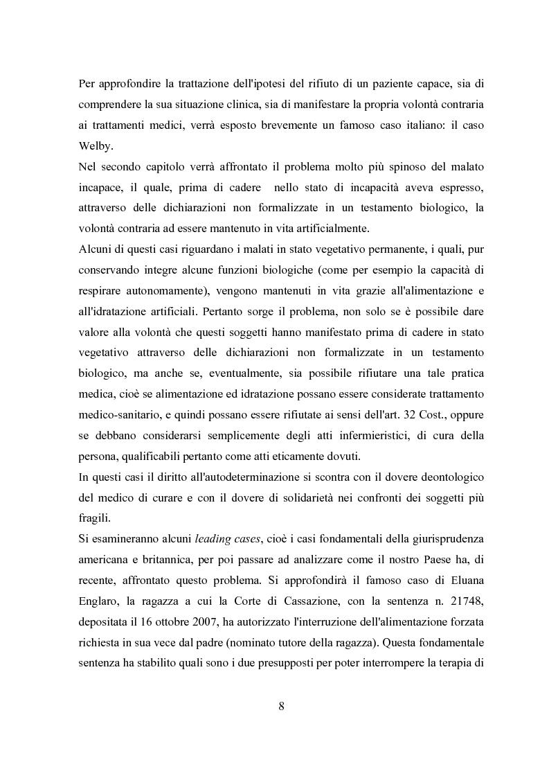 Anteprima della tesi: Il testamento biologico, Pagina 4