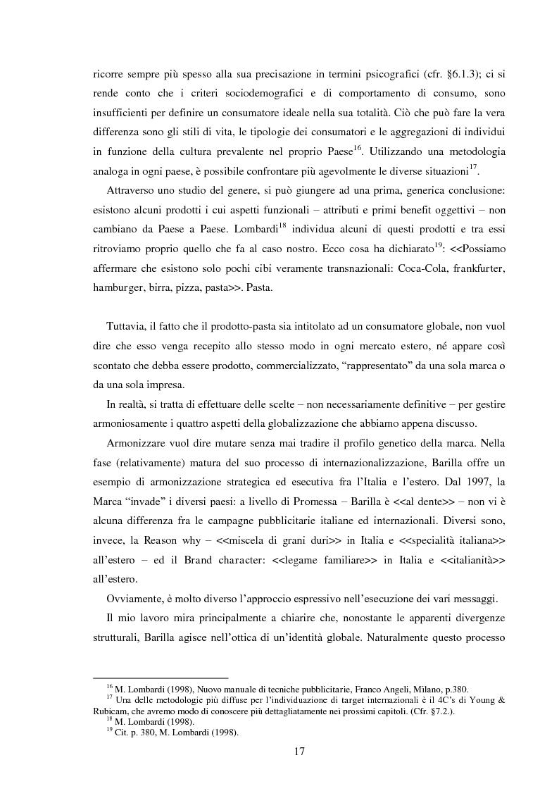 Anteprima della tesi: Pubblicità e identità globale - Il caso Barilla: Italia e Francia in raffronto attraverso l'analisi delle campagne televisive, Pagina 12