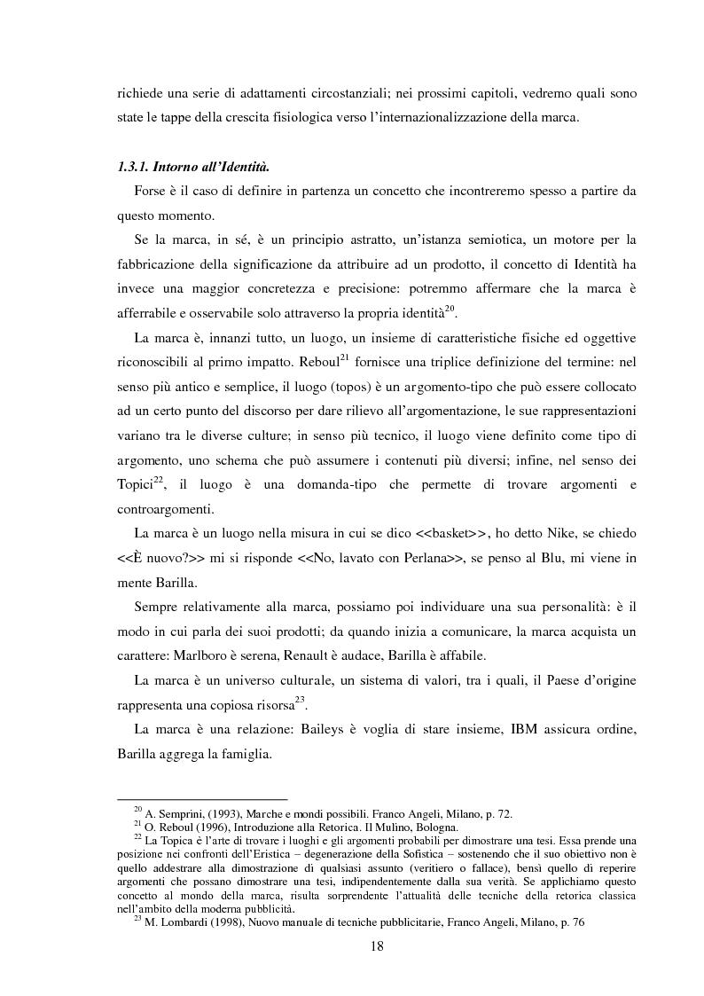 Anteprima della tesi: Pubblicità e identità globale - Il caso Barilla: Italia e Francia in raffronto attraverso l'analisi delle campagne televisive, Pagina 13