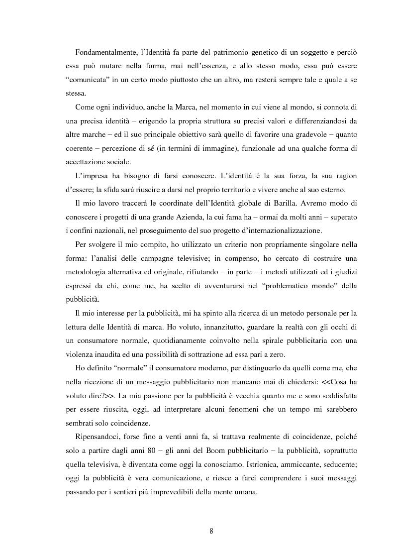 Anteprima della tesi: Pubblicità e identità globale - Il caso Barilla: Italia e Francia in raffronto attraverso l'analisi delle campagne televisive, Pagina 3