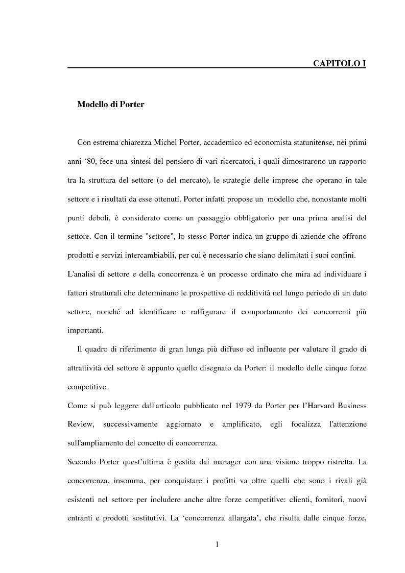 Anteprima della tesi: Lo sviluppo di una metodologia operativa basata su modello di Porter: applicazione al caso di due settori, Pagina 4