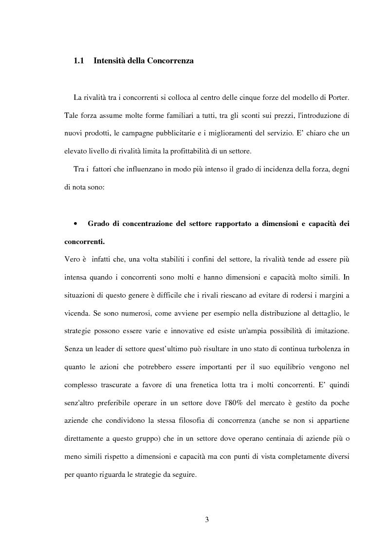 Anteprima della tesi: Lo sviluppo di una metodologia operativa basata su modello di Porter: applicazione al caso di due settori, Pagina 6
