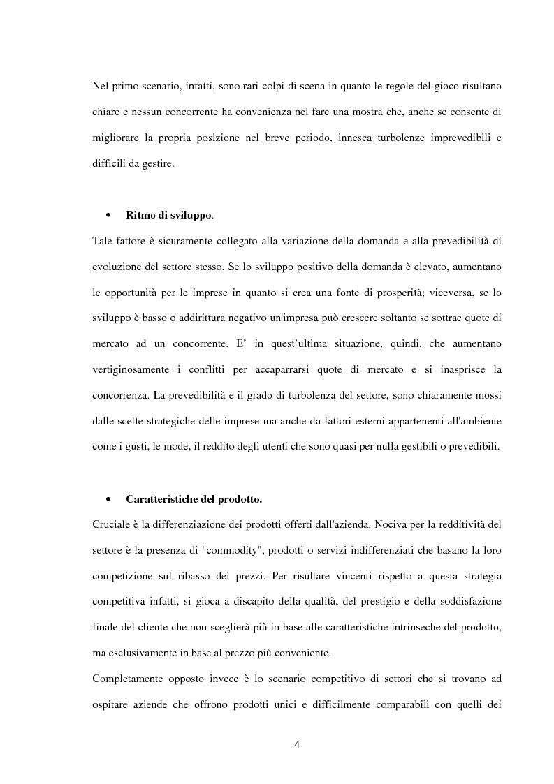 Anteprima della tesi: Lo sviluppo di una metodologia operativa basata su modello di Porter: applicazione al caso di due settori, Pagina 7