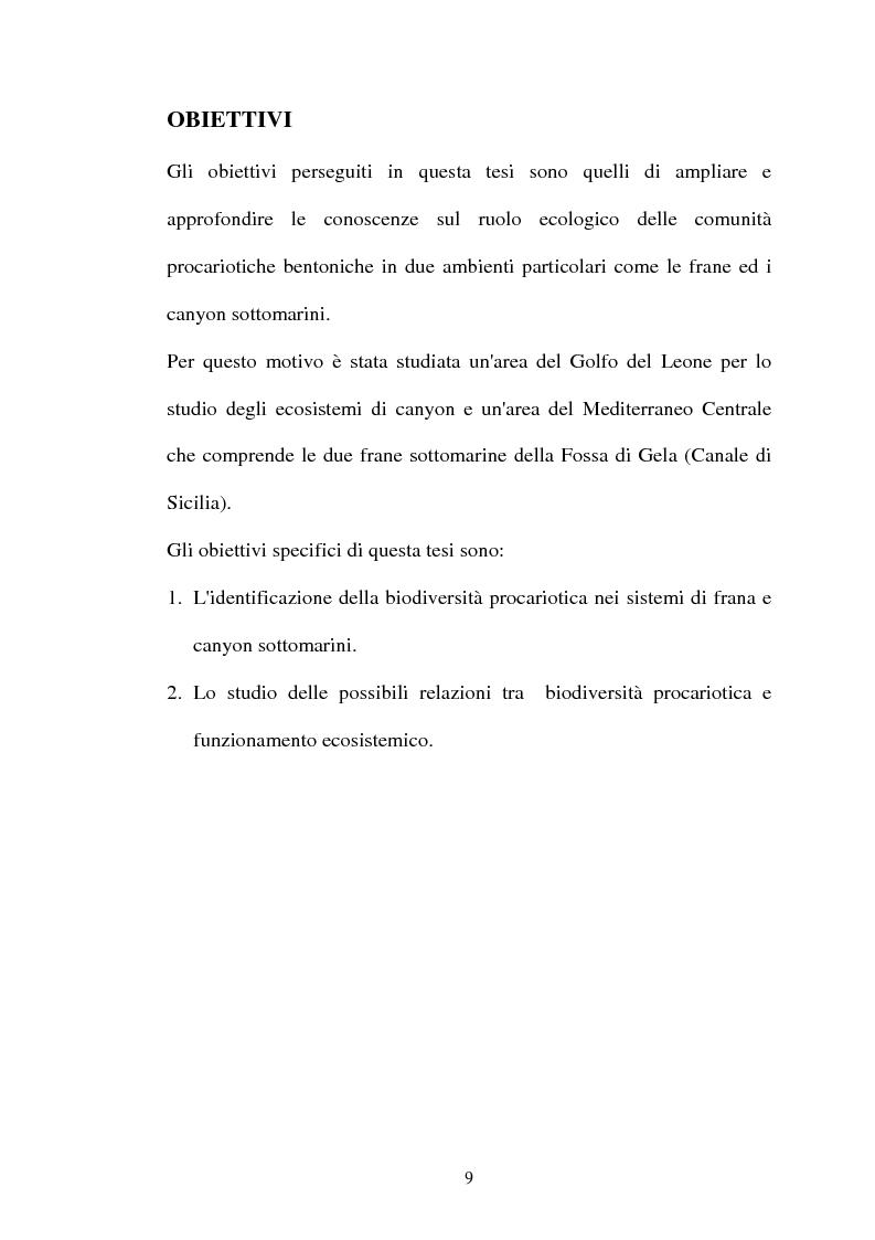 Anteprima della tesi: Struttura delle comunità procariotiche nei sedimenti profondi del Mediterraneo, Pagina 1
