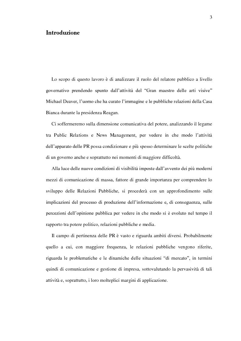 Anteprima della tesi: Il ruolo delle relazioni pubbliche nella comunicazione politica - Come è cambiata la comunicazione nell'era della pubblicità mediata, Pagina 1