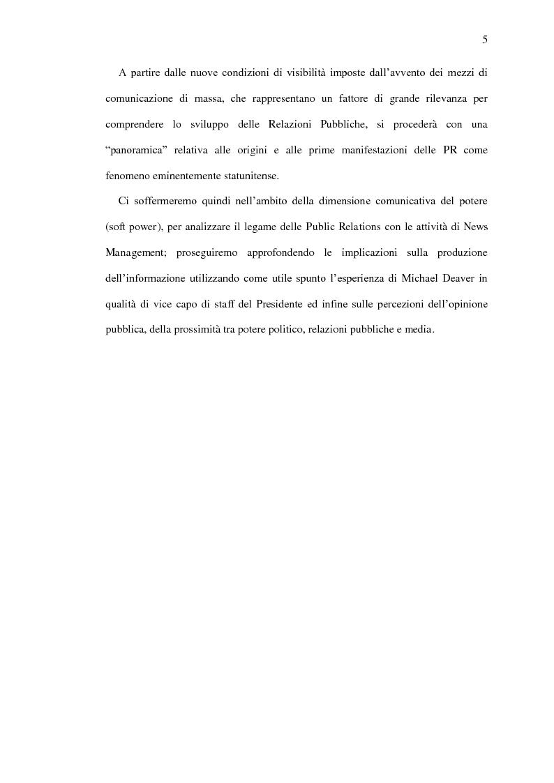 Anteprima della tesi: Il ruolo delle relazioni pubbliche nella comunicazione politica - Come è cambiata la comunicazione nell'era della pubblicità mediata, Pagina 3