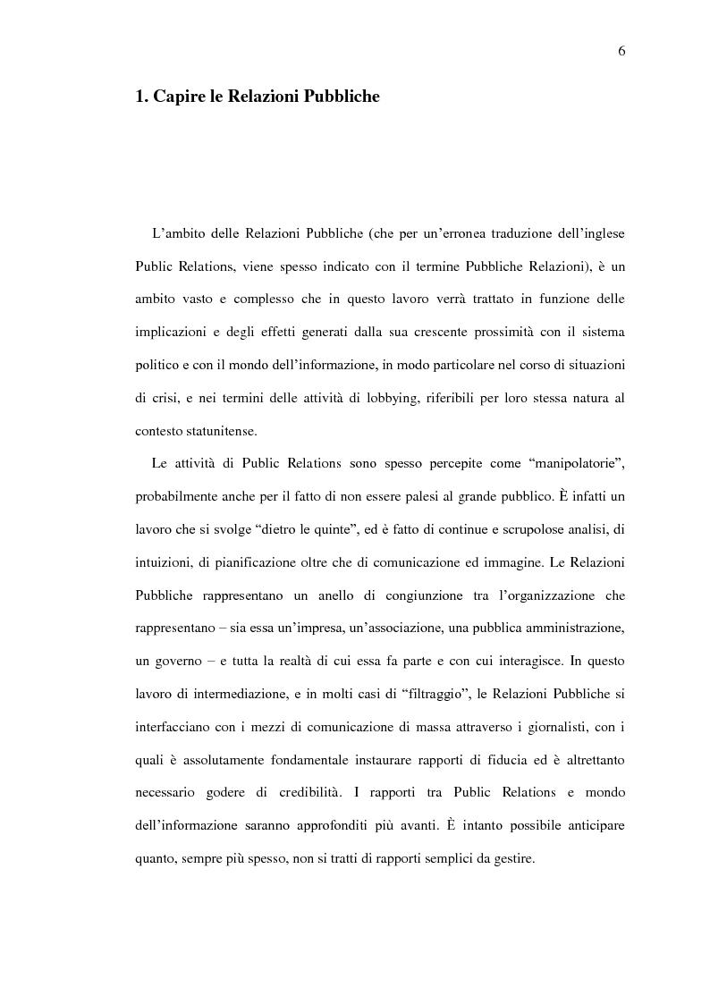 Anteprima della tesi: Il ruolo delle relazioni pubbliche nella comunicazione politica - Come è cambiata la comunicazione nell'era della pubblicità mediata, Pagina 4