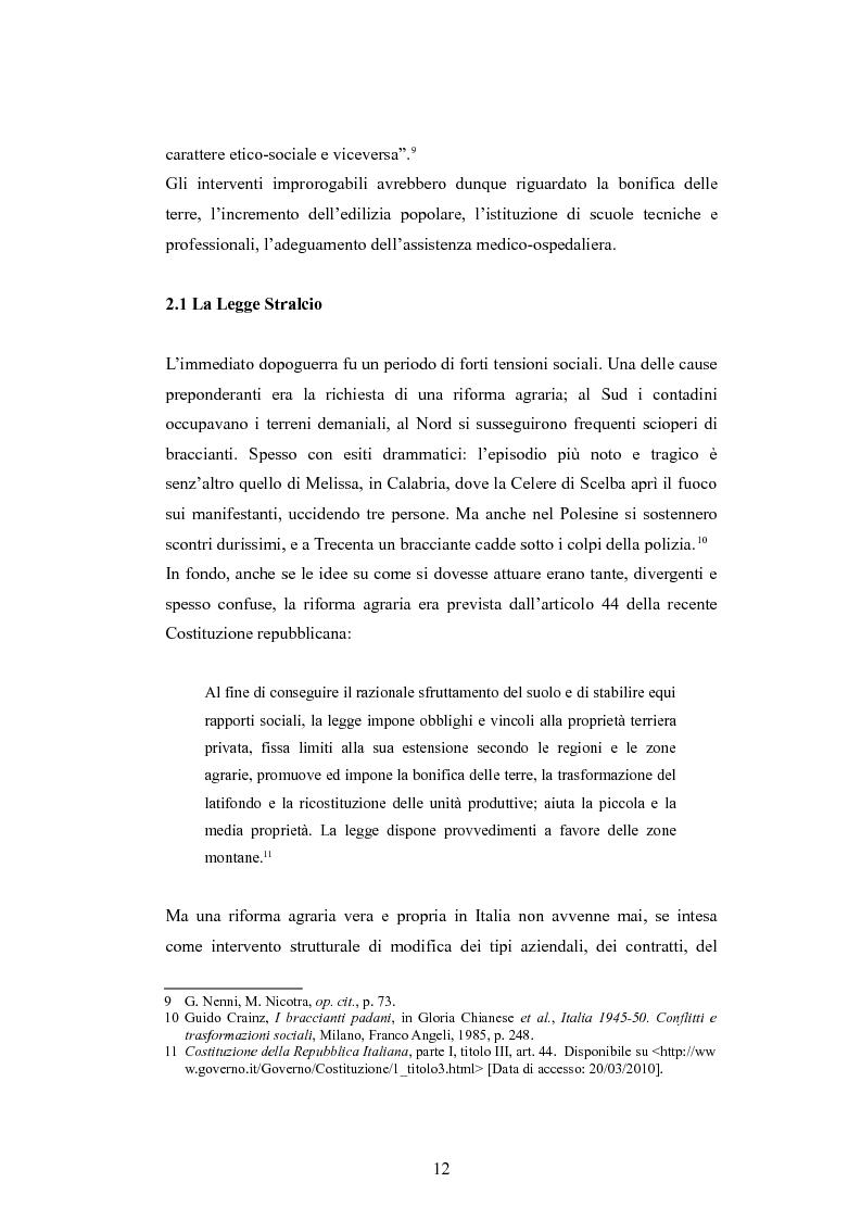 Anteprima della tesi: ''Per terre nuove uomini nuovi''. La propaganda cinematografica dell'Ente Delta Padano, Pagina 12
