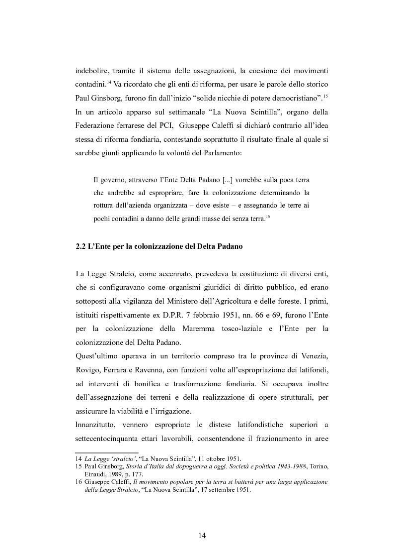 Anteprima della tesi: ''Per terre nuove uomini nuovi''. La propaganda cinematografica dell'Ente Delta Padano, Pagina 14