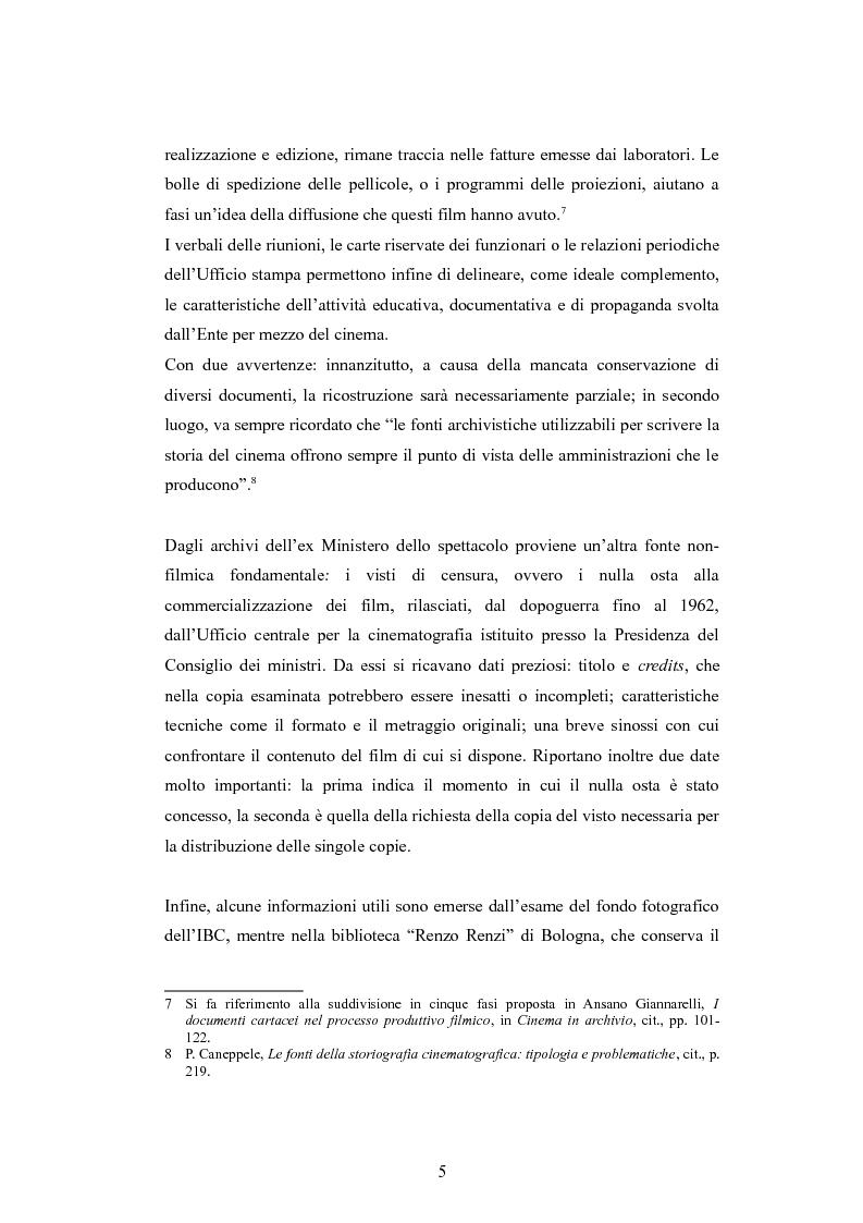 Anteprima della tesi: ''Per terre nuove uomini nuovi''. La propaganda cinematografica dell'Ente Delta Padano, Pagina 5