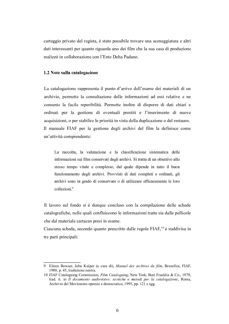 Anteprima della tesi: ''Per terre nuove uomini nuovi''. La propaganda cinematografica dell'Ente Delta Padano, Pagina 6