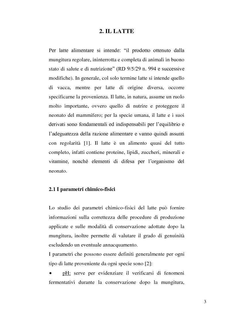 Anteprima della tesi: Sviluppo di un metodo RP-HPLC-IIR con reagente di interazione ionica per la determinazione di anioni di interesse bromatologico nel latte, Pagina 1