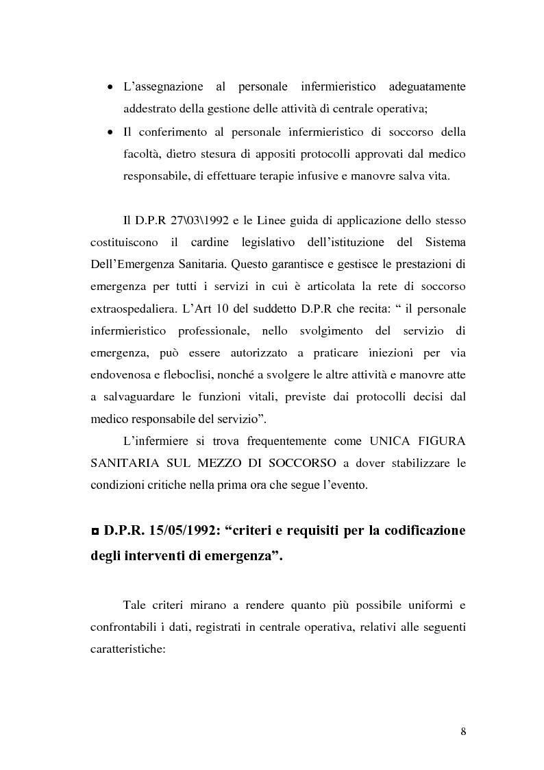 Anteprima della tesi: Ruolo dell'infermiere nella gestione del paziente politraumatizzato nell'ambito del servizio di emergenza territoriale, Pagina 4