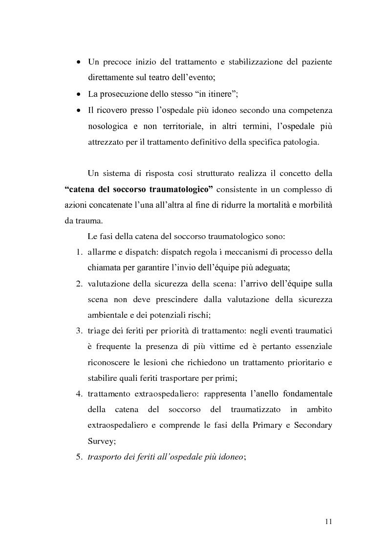 Anteprima della tesi: Ruolo dell'infermiere nella gestione del paziente politraumatizzato nell'ambito del servizio di emergenza territoriale, Pagina 7
