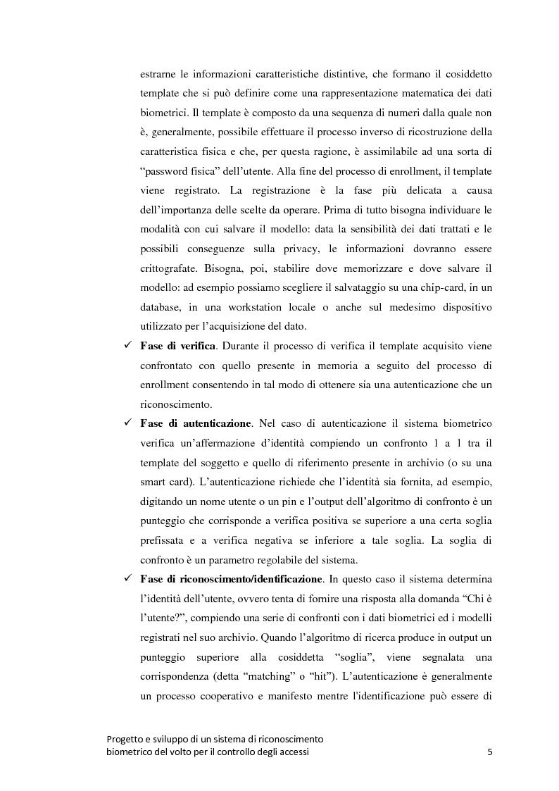 Anteprima della tesi: Progetto e sviluppo di un sistema di riconoscimento biometrico del volto per il controllo degli accessi, Pagina 2