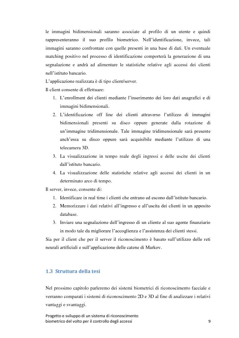 Anteprima della tesi: Progetto e sviluppo di un sistema di riconoscimento biometrico del volto per il controllo degli accessi, Pagina 6