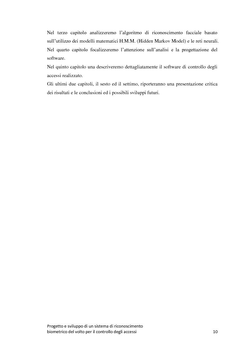 Anteprima della tesi: Progetto e sviluppo di un sistema di riconoscimento biometrico del volto per il controllo degli accessi, Pagina 7