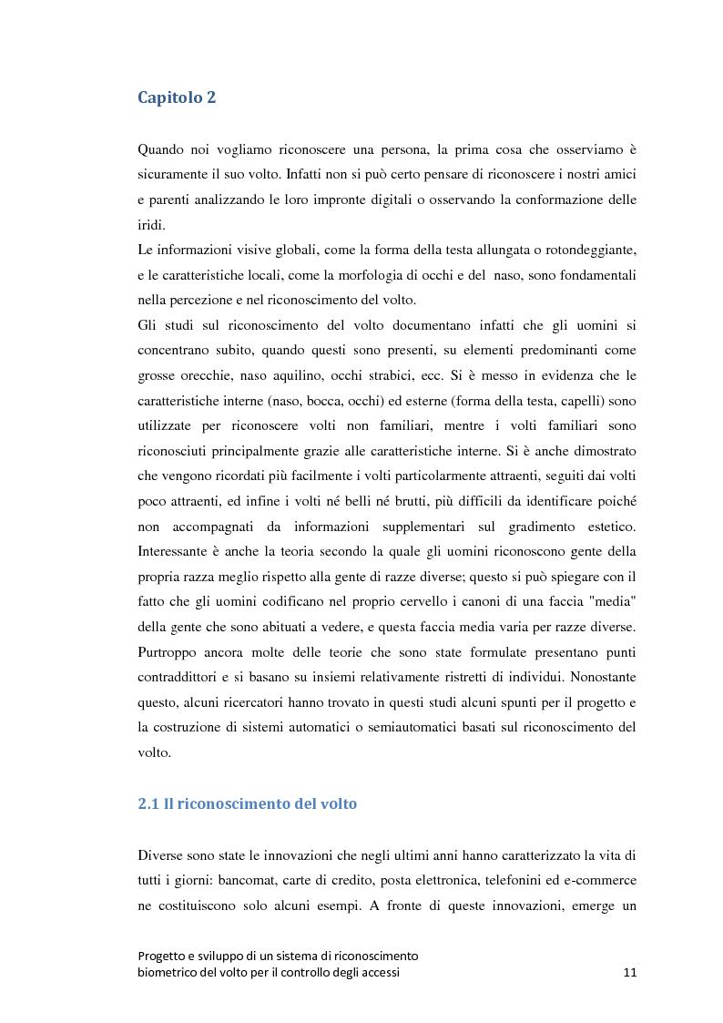 Anteprima della tesi: Progetto e sviluppo di un sistema di riconoscimento biometrico del volto per il controllo degli accessi, Pagina 8