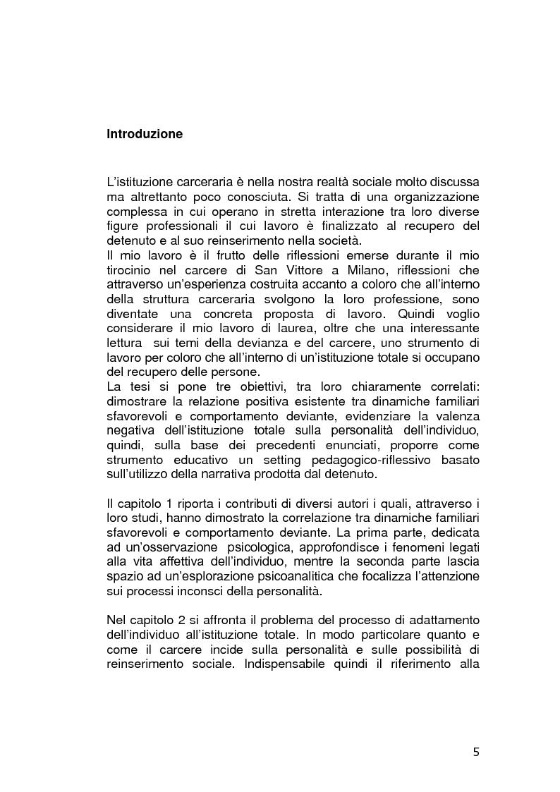 Anteprima della tesi: L'educazione in carcere: realtà o utopia?, Pagina 1