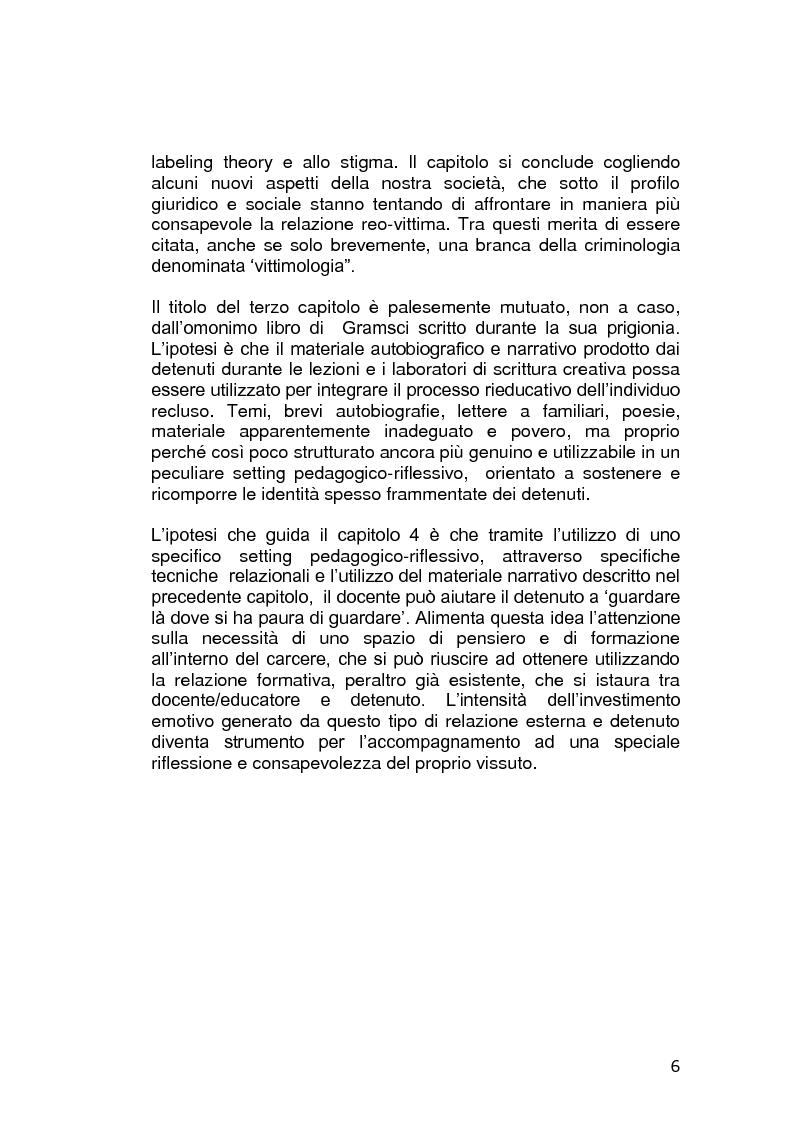 Anteprima della tesi: L'educazione in carcere: realtà o utopia?, Pagina 2