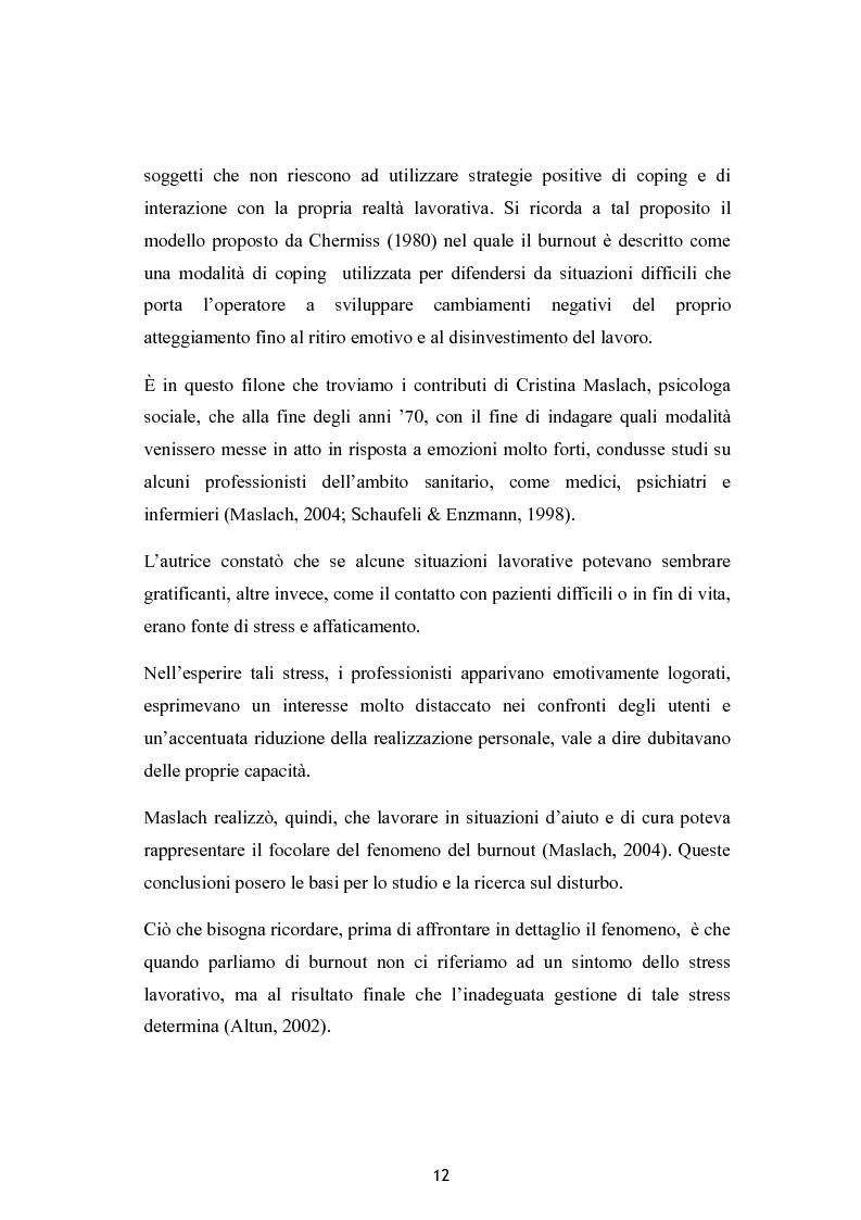 Anteprima della tesi: Burnout e coping in un campione di insegnanti, Pagina 6