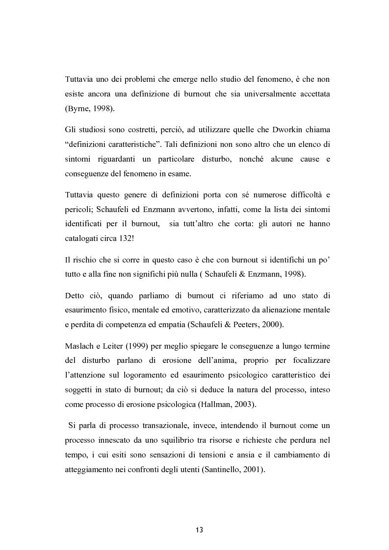 Anteprima della tesi: Burnout e coping in un campione di insegnanti, Pagina 7