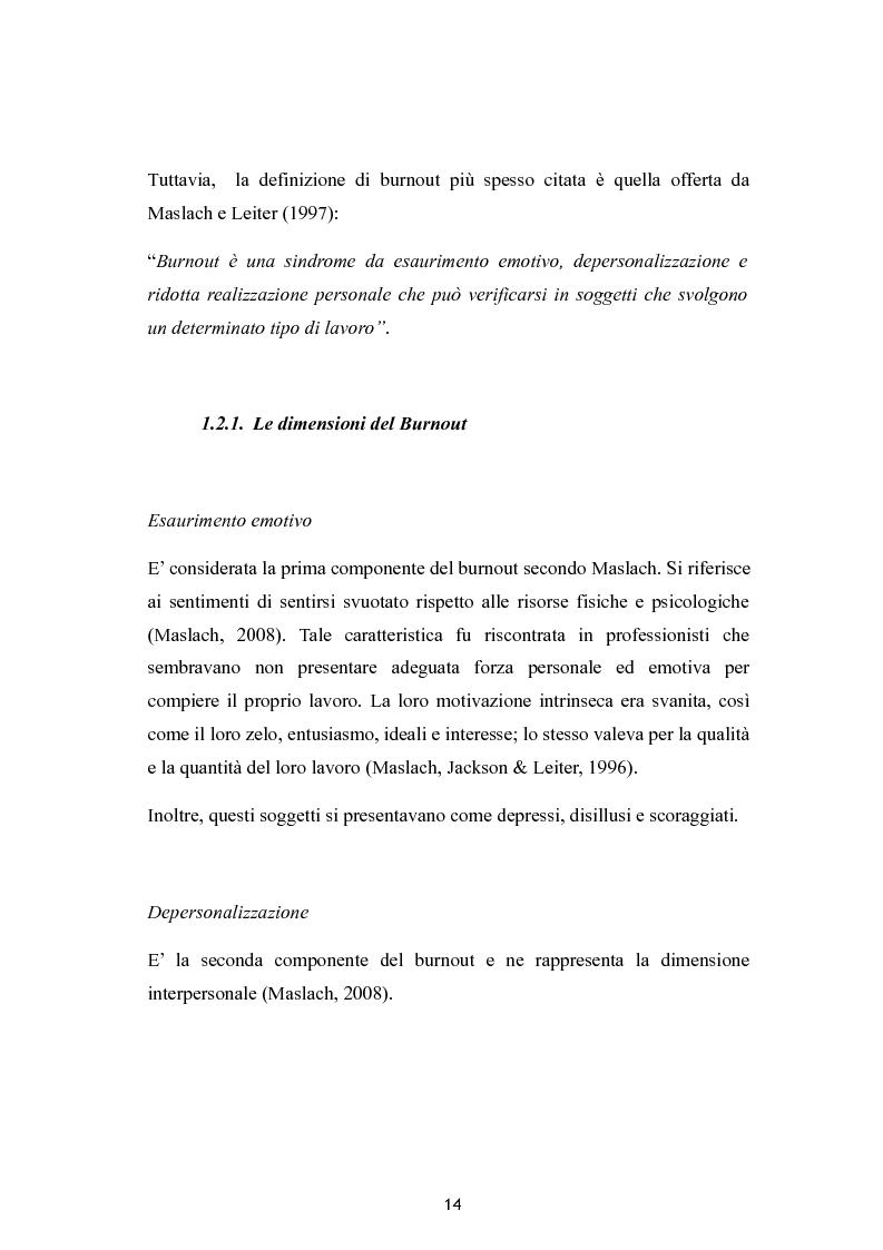 Anteprima della tesi: Burnout e coping in un campione di insegnanti, Pagina 8
