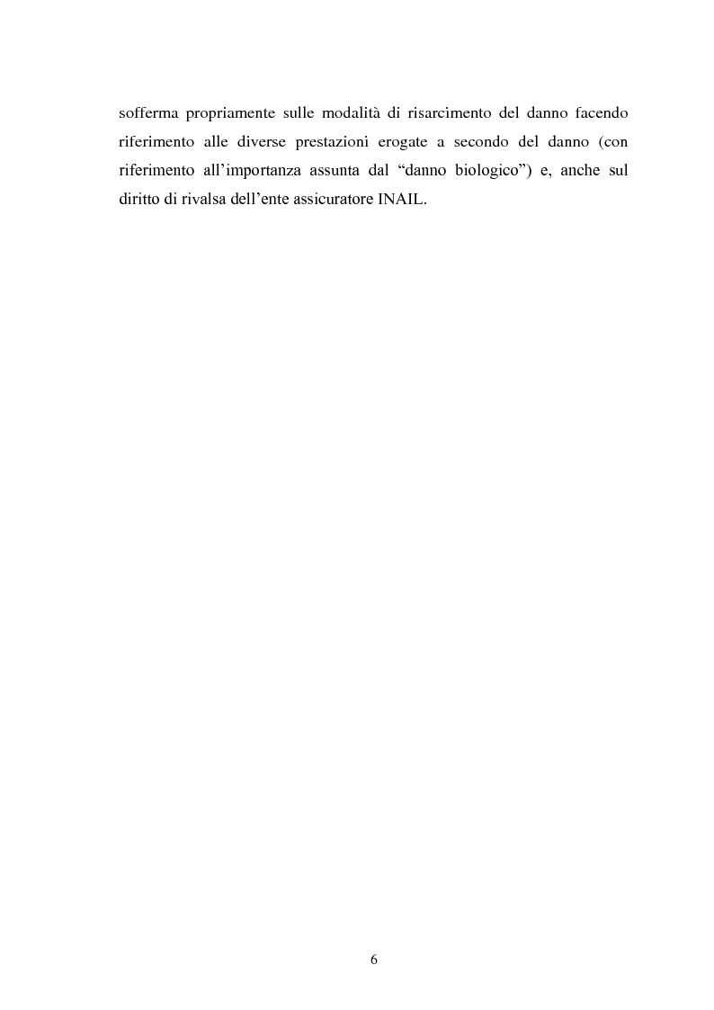 Anteprima della tesi: Modalità di risarcimento del danno in caso di infortunio sul lavoro da parte dell'Inail, Pagina 2