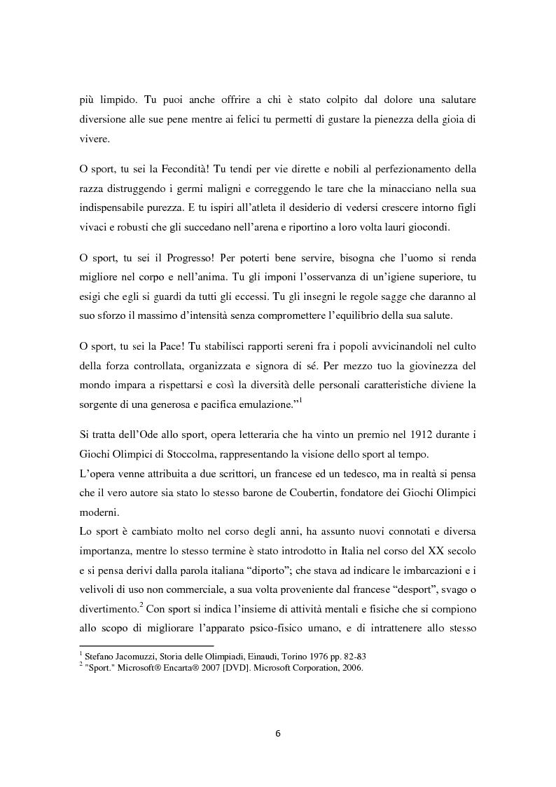 Anteprima della tesi: Le Olimpiadi: una lunga storia di sport, passioni, rinunce e... di politica, Pagina 2