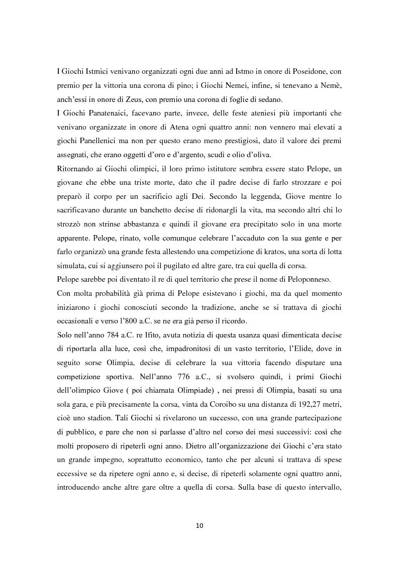 Anteprima della tesi: Le Olimpiadi: una lunga storia di sport, passioni, rinunce e... di politica, Pagina 6