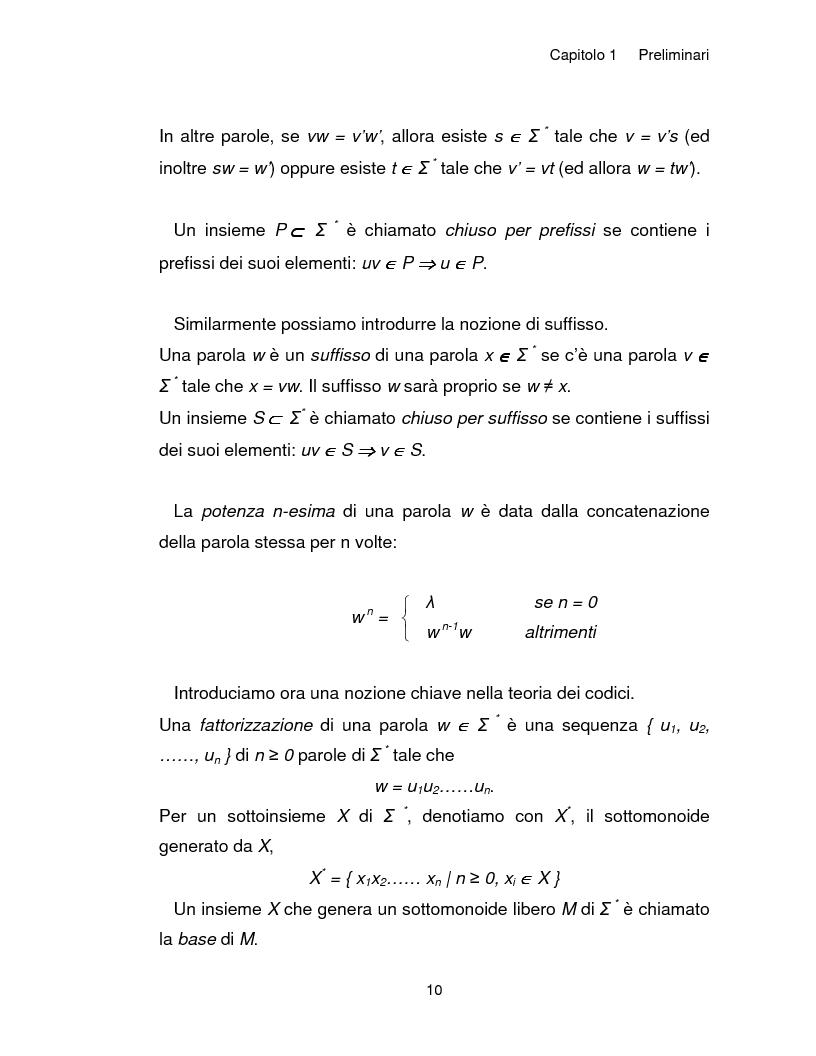 Anteprima della tesi: Progetto, analisi e implementazione in Java di un algoritmo efficiente per decidere l'univoca decifrabilità di linguaggi regolari, Pagina 10