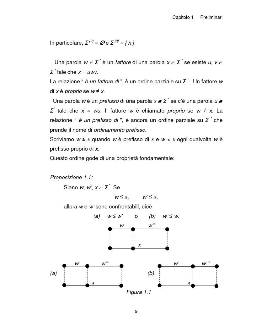 Anteprima della tesi: Progetto, analisi e implementazione in Java di un algoritmo efficiente per decidere l'univoca decifrabilità di linguaggi regolari, Pagina 9