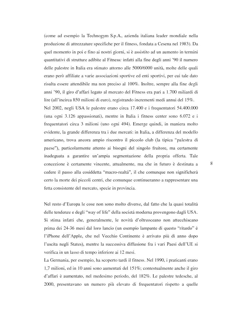 Anteprima della tesi: Il prodotto fitness e analisi critica della multinazionale del benessere leader mondiale: il caso Fitness First Italia S.p.A., Pagina 6
