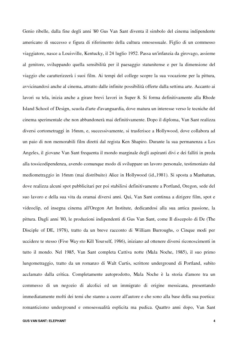 Anteprima della tesi: Gus Van Sant: Elephant, Pagina 2