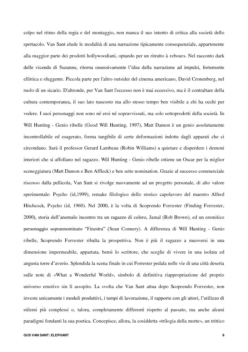 Anteprima della tesi: Gus Van Sant: Elephant, Pagina 4