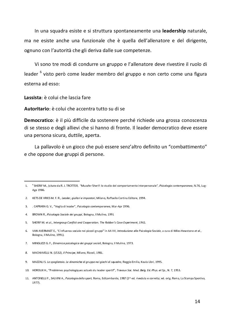Anteprima della tesi: Ruolo delle variabili psicologiche nella prestazione sportiva di squadra. Una verifica empirica., Pagina 10
