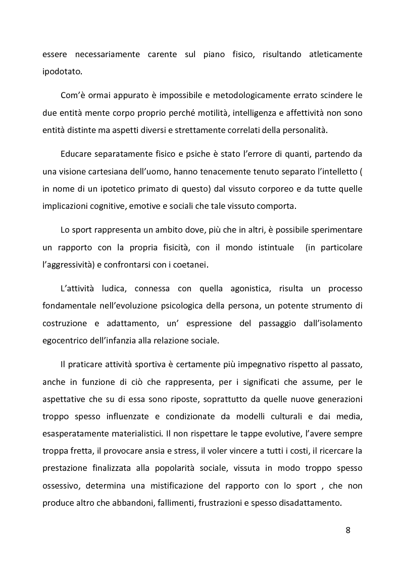 Anteprima della tesi: Ruolo delle variabili psicologiche nella prestazione sportiva di squadra. Una verifica empirica., Pagina 4