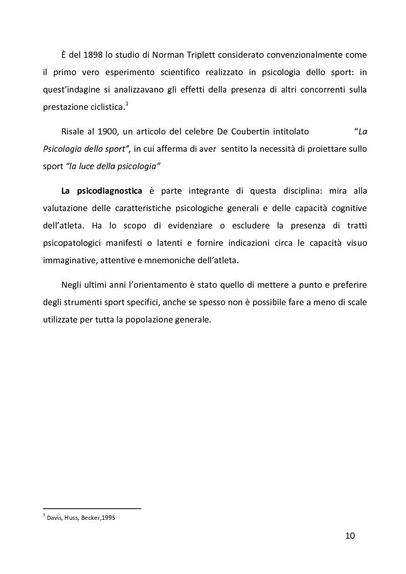 Anteprima della tesi: Ruolo delle variabili psicologiche nella prestazione sportiva di squadra. Una verifica empirica., Pagina 6
