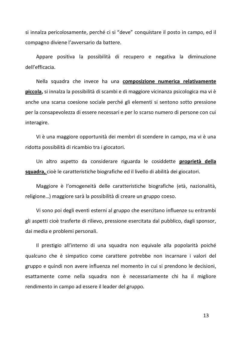 Anteprima della tesi: Ruolo delle variabili psicologiche nella prestazione sportiva di squadra. Una verifica empirica., Pagina 9